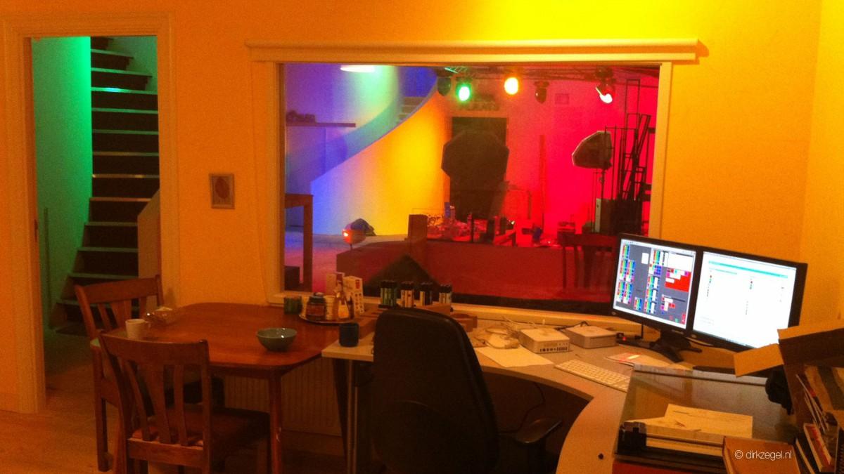 background atelier vanuit kantoor